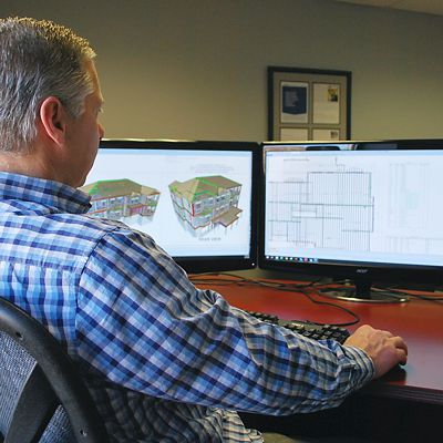 EWP designer at monitors using MiTek Sapphire software