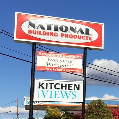 National Building Products street signs at East Hartford store