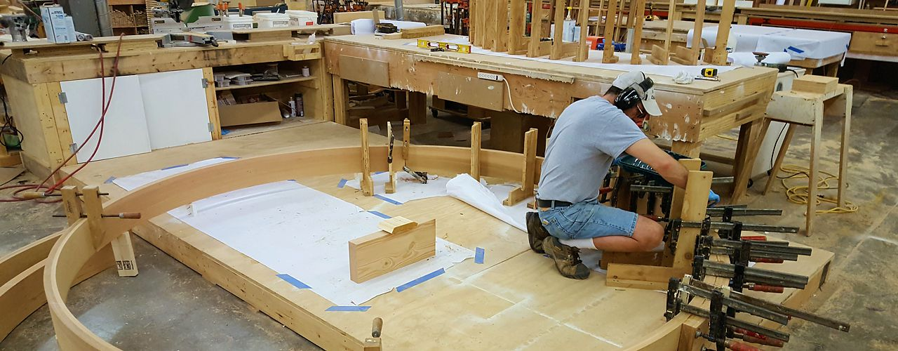 Custom workshop at National Millwork in Mansfield, MA
