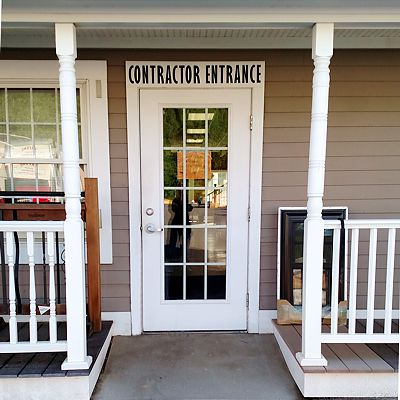 Contractor Entrance at Oxford Lumber store
