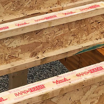 Rapid Frame® I-joists with pre-applied adhesive protective tape
