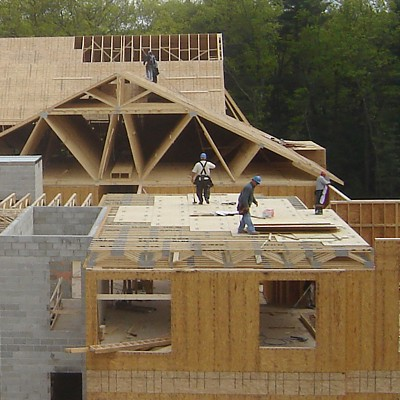 Reliable Truss wood framing for NewBridge multi-residential development